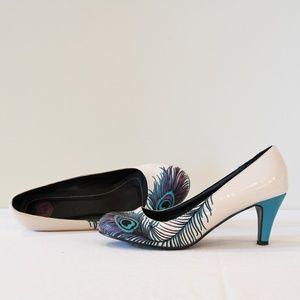 T.U.K. Peacock Feather Heels